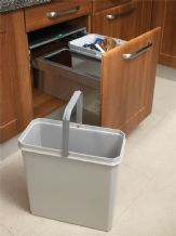 RECYCLING PULL-OUT SOFT CLOSE WASTE BIN (49 litre capacity) for 500mm cabinet (ECF BIN13)